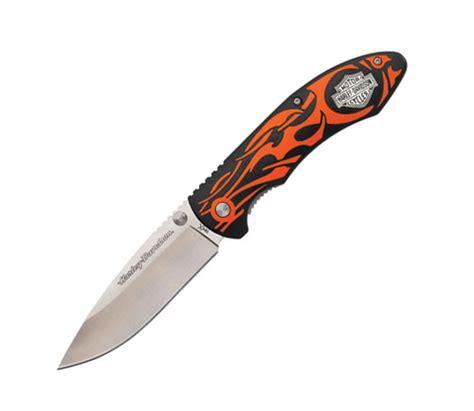 harley knives harley davidson 174 tecx orange handled knife