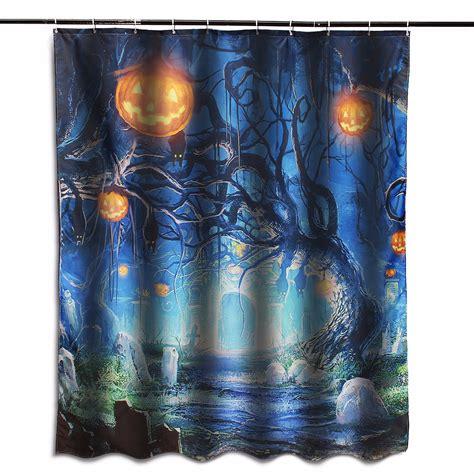 halloween shower curtain hooks other bathroom 150x180cm halloween ghost pumpkin