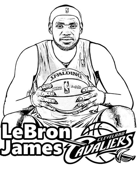 nba coloring pages lebron james 9 best sport coloring pages images on pinterest