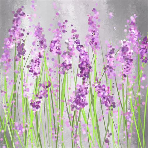 Modern Home Interior Color Schemes by Lavender Blossoms Lavender Field Painting Painting By