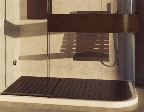 wood shower floor wood shower seat and wood shower floor add luxury to maax