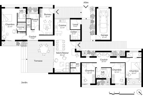 Plan D Architecte De Maison by Plan Maison Plain Pied D Architecte