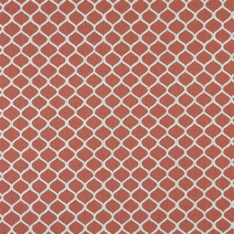 geometric upholstery fabric a0008c persimmon and off white modern geometric