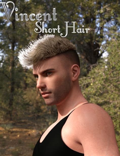 vincent hair vincent hair for genesis 3 s 3d models and