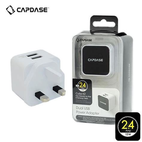 Capdase Charger Dual Usb Power Adapter Cube K2 24 Ere capdase dual usb power adapter cube k2 2 4s white mobilezap australia