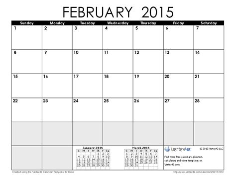 february calendar template 2015 2015 calendar templates and images