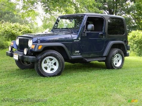 midnight blue jeep 2006 jeep wrangler sport 4x4 in midnight blue pearl