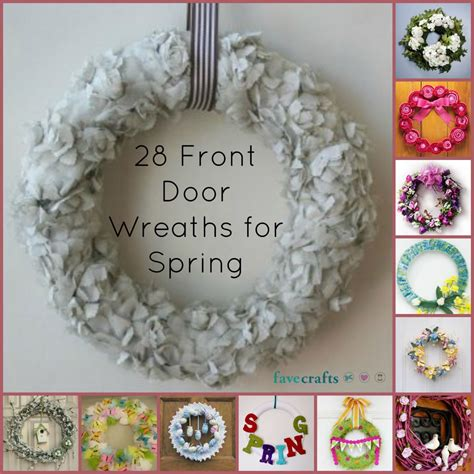 Decorative Easter Eggs Home Decor by 24 Decorative Front Door Wreaths For Spring Favecrafts Com