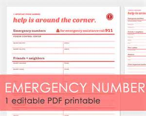 important numbers template emergency response plans for construction important