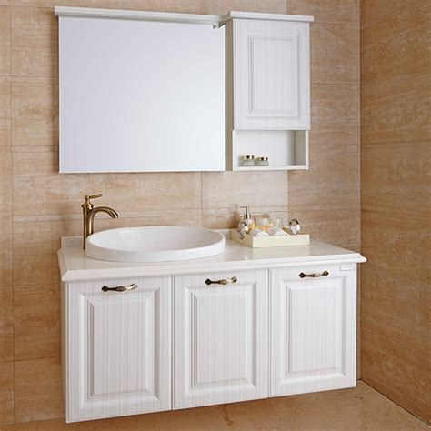 pvc bathroom cabinets op14 004 traditional white pvc bathroom cabinet