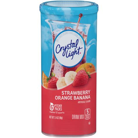 crystal light drink mix amazon com crystal light strawberry orange banana 2 4