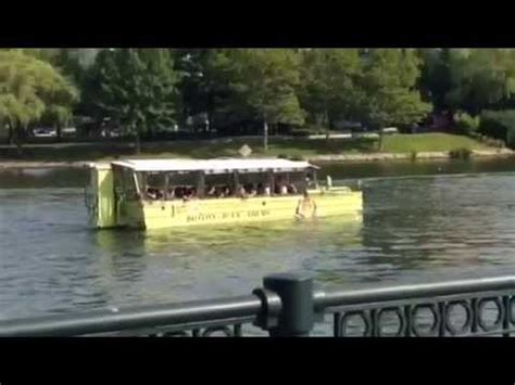duck boats boston ma duck boat land and water ride boston ma youtube