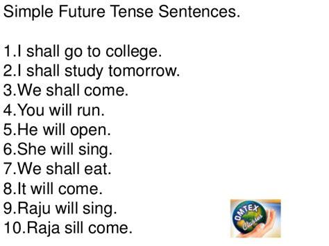 future perfect tense sentence pattern tense