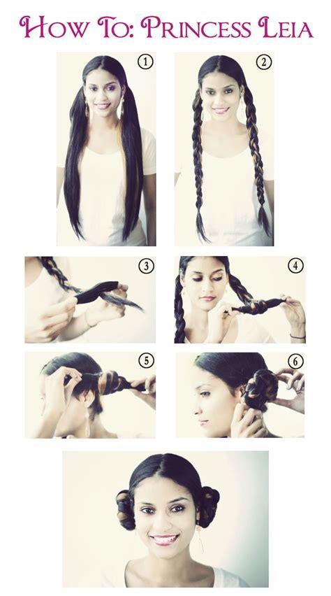 halloween hairstyles step by step halloween princess leia step by step hair tutorials