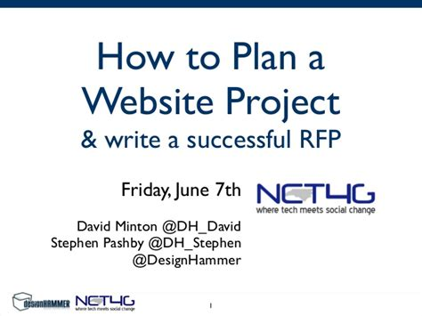 how to plan website how to plan a website project write a successful rfp