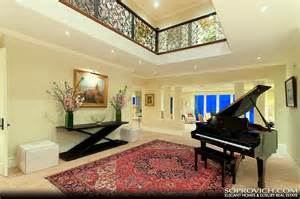 grand main entry with double height ceilings pricey pads