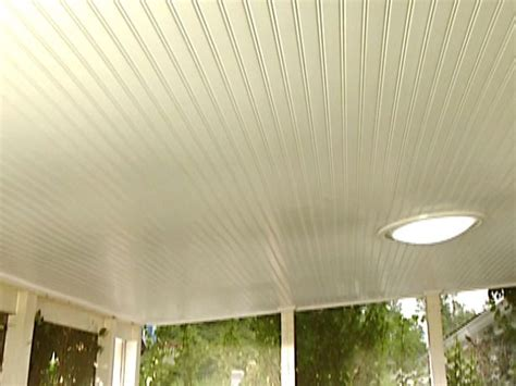 how to install a beadboard ceiling in a porch