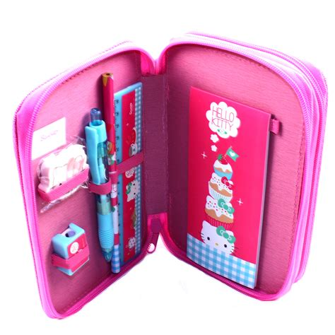 Tempat Pensilpencase Hello Kity Pink pencil hello stationary pink tier