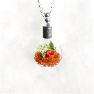 Terrarium Jewelry ecosystem necklace terrarium pendant necklace flower by