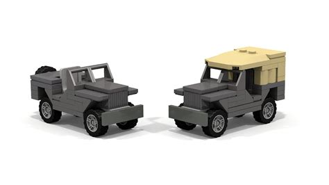 lego mini jeep lego mini scale willys jeep moc tutorial updated fixed