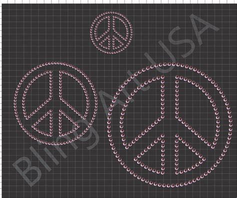 rhinestone peace sign templates pattern art stencil peace