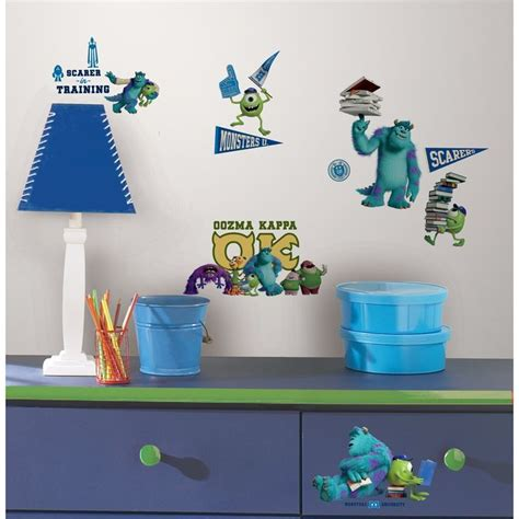 Monsters Inc Bedroom Accessories by Monsters Peel And Stick Wall Decals Monsters