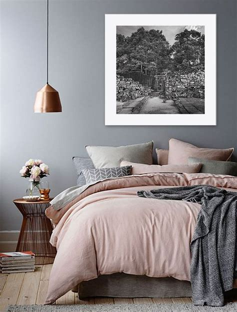dream bedroom love  pink grey  bronze theme