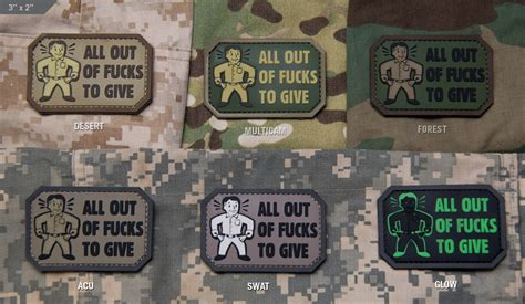 fuck yo couch patch mil spec monkey velcro morale all out pvc patch