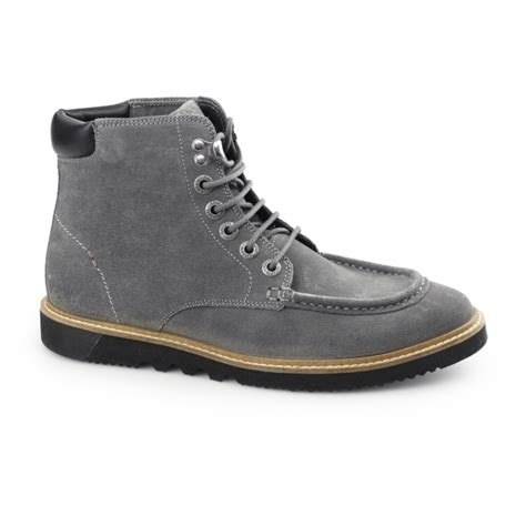Kickers Casual Prepet kickers kwamie boot mens suede moccasin boot grey buy at