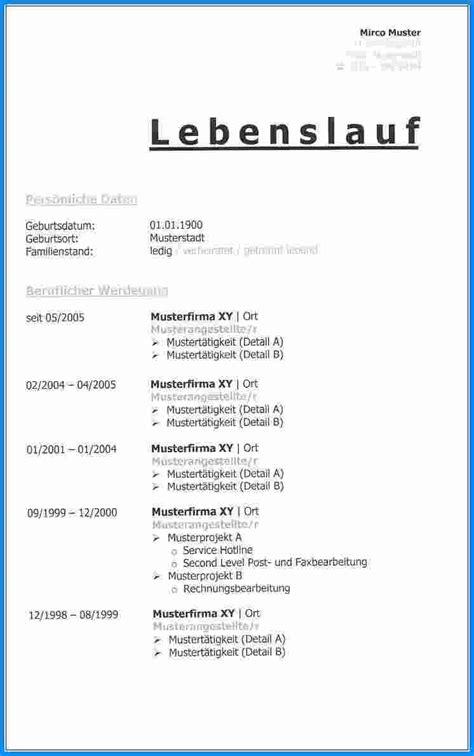 Tabellarischer Lebenslauf Vorlage Ausbildung 6 lebenslauf muster ausbildung business template