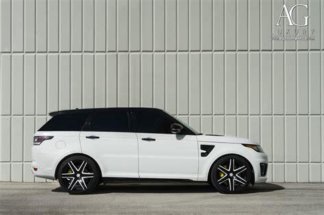range rover svr white ag luxury wheels range rover sport svr forged wheels
