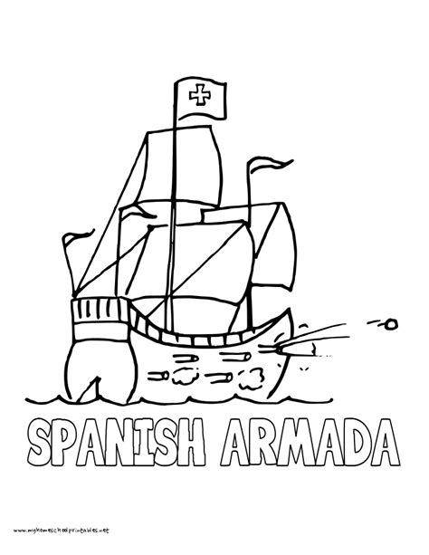 coloring page spanish galleon quick tips grading essays and papers more efficiently