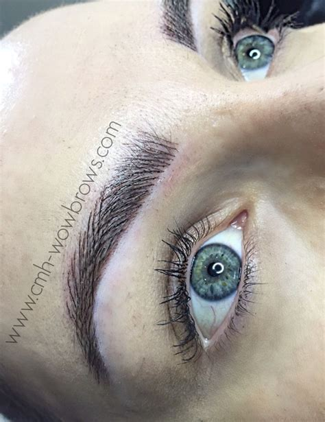 feather eyebrow tattoo feather touch hair stroke microblading tattooed eyebrows