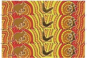 aboriginal art themed display border free early years