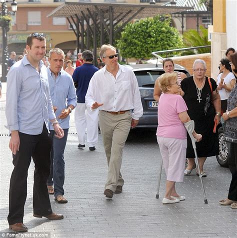 Firase Blouse toned tony former pm blair looks slim as he meets locals during marbella daily