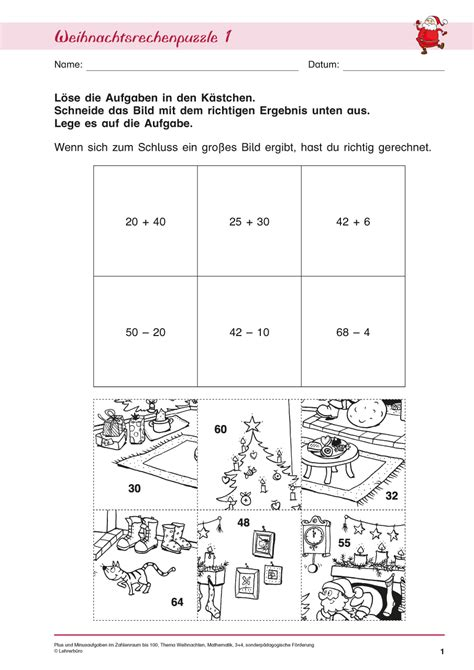 Gemütlich Kindergarten Math Weihnachten Arbeitsblatt Fotos ...