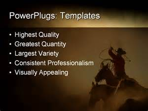 Western Powerpoint Template by Best Powerpoint Template Cowboy In The Desert Chasing
