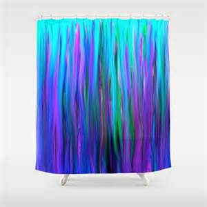 purple and blue water abstract painting shower curtain