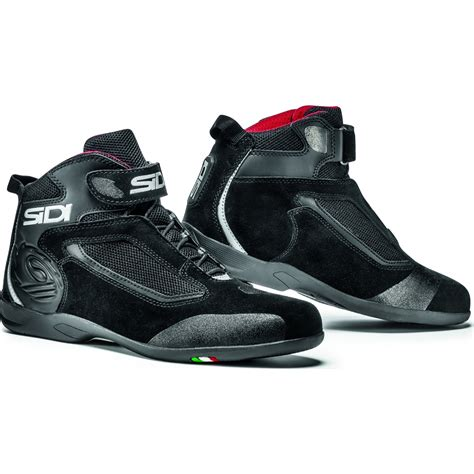 low moto boots sidi gas leather motorcycle boots motorbike low cut