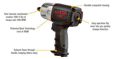 Air Impact 1 2in Tekiro aircat composite air impact wrench 1 2in drive 1295 ft lbs torque ebay