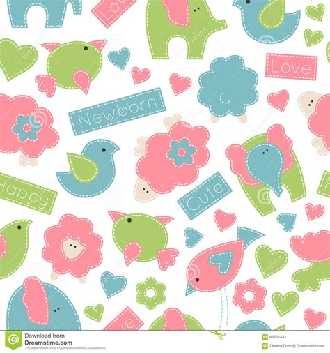 cute cartoon pattern cute cartoon seamless pattern stock vector image 63502442