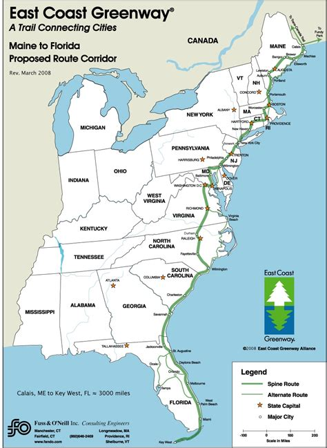 map of us states east coast map of east coast usa and bermuda at maps