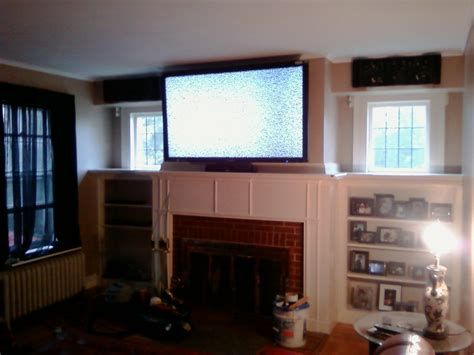 cheshire ct 65 lcd tv over fireplace complete custom cheshire ct e2 80 93 65 b3 lcd tv over fireplace complete