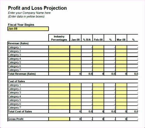 simple profit and loss excel template simple profit and loss template excel v4cdw lovely profit