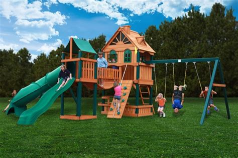 swing set with bridge gorilla playsets woodbridge swingset installer the