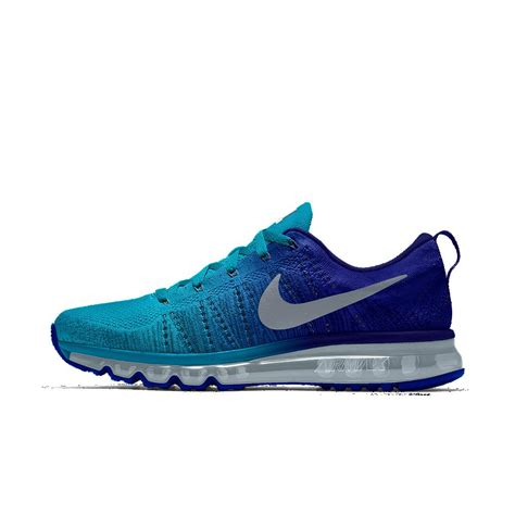 nike air max running shoes for nike flyknit air max id s running shoe in blue for