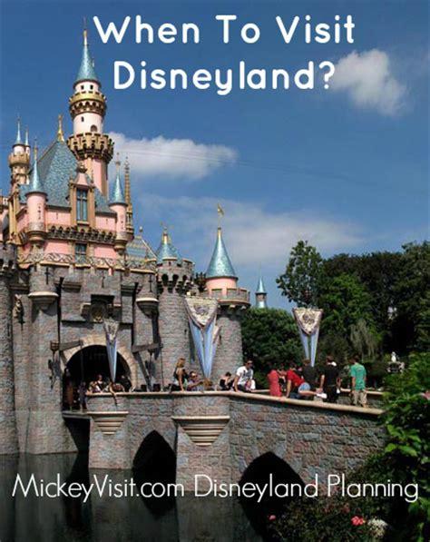 Calendar When To Visit Disneyland Best Time To Visit Disneyland With Disneyland Crowd Calendar