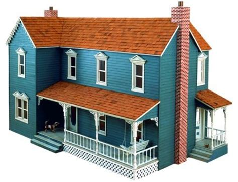 plans for a doll house r14 3059 farmhouse dollhouse vintage woodworking plan woodworkersworkshop