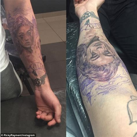 gigi hadid tattoo ex towie ricky rayment gets of gigi hadid on