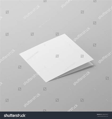 Blank Bifold Square Brochure Leaflet Phlet Stock Illustration 638507947 Shutterstock Bi Fold Greeting Card Template